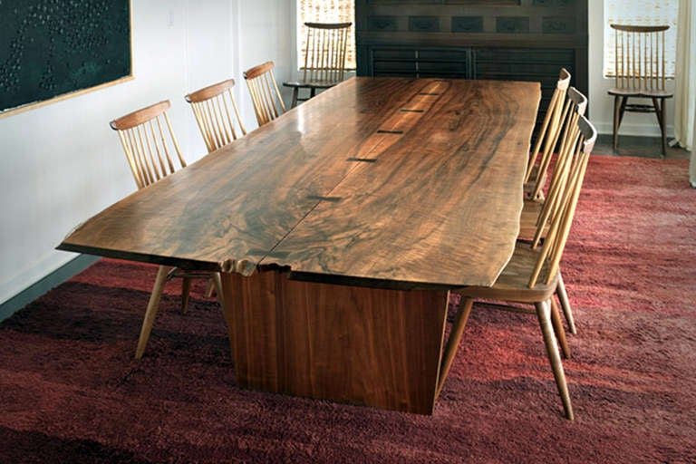 10 ft minguren iii dining table by george nakashima 1976 for 2 person dining room table