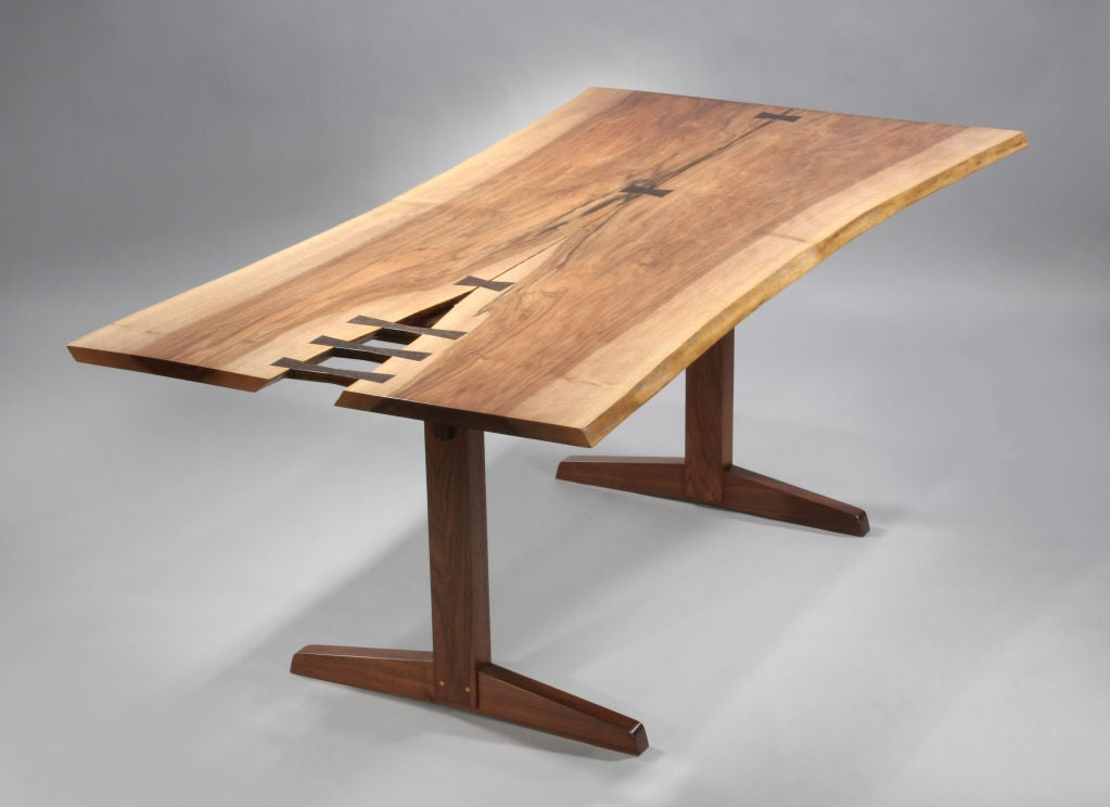 Spectacular Trestle Dining Table by George Nakashima at 1stdibs - Dining Room Collections