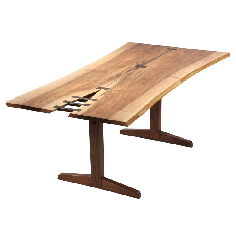 Spectacular Trestle Dining Table by George Nakashima at  : XXX842613035007261 from www.1stdibs.com size 768 x 768 jpeg 34kB