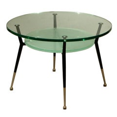 French 1960's Coffee Table attributed to Jacques Dumond