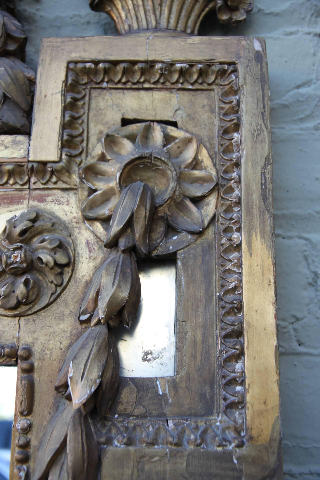 19th Century Italian Carved Giltwood Mirror 7