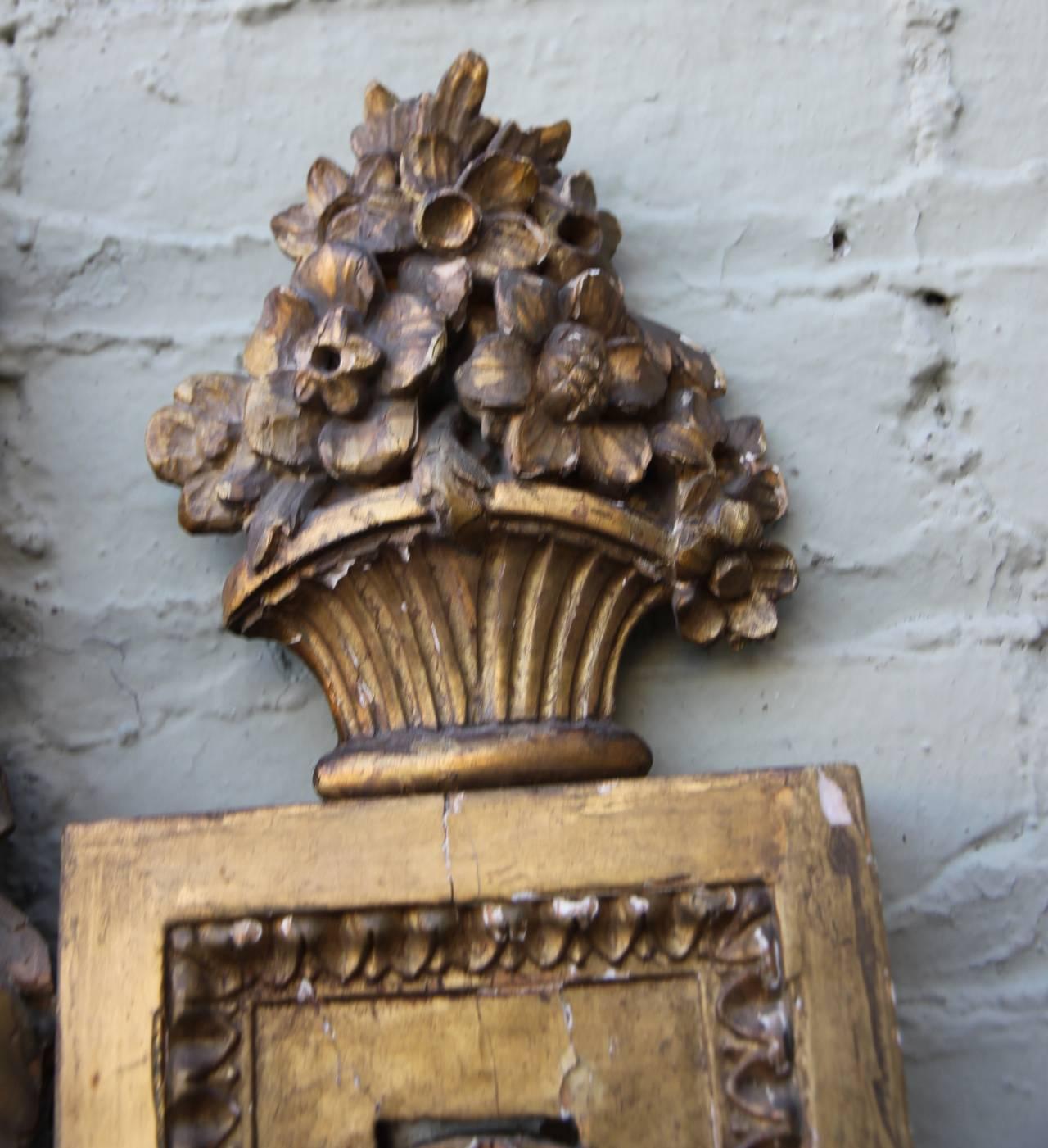 19th Century Italian Carved Giltwood Mirror 8