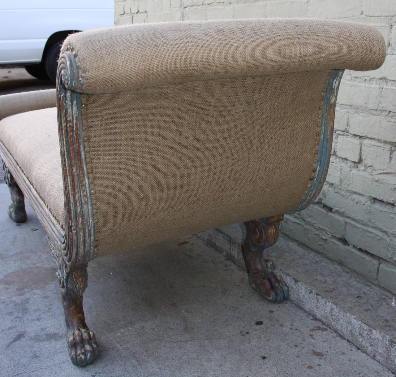 American painted chaise c 1920 for sale at 1stdibs for 1920s chaise lounge