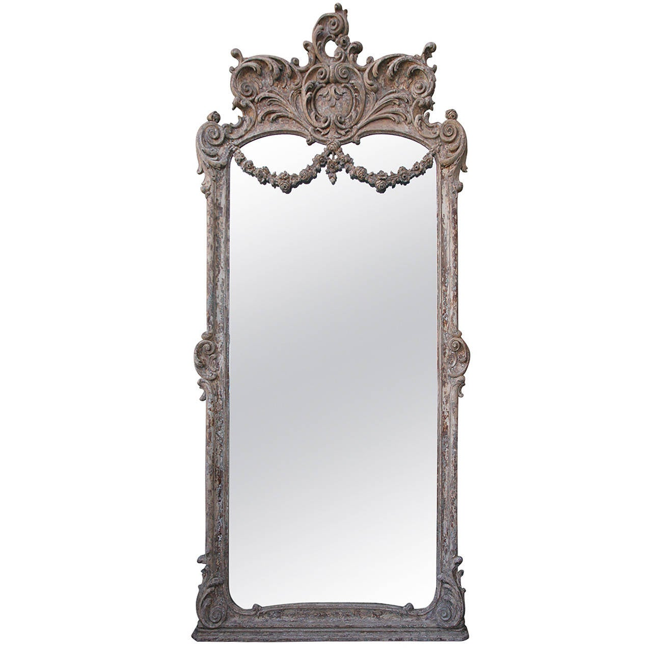 Monumental Louis XVI Style Painted Mirror