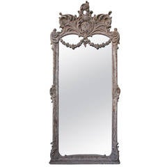 Monumental Louis XVI Style Painted Mirror