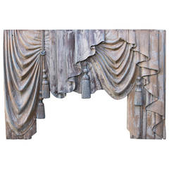 19th Century Italian Carved Valence with Tassels