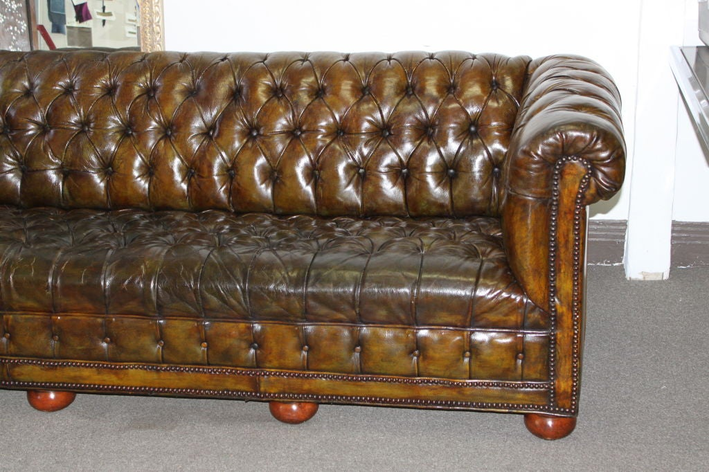 Vintage English Chesterfield Sofa C. 1930 2