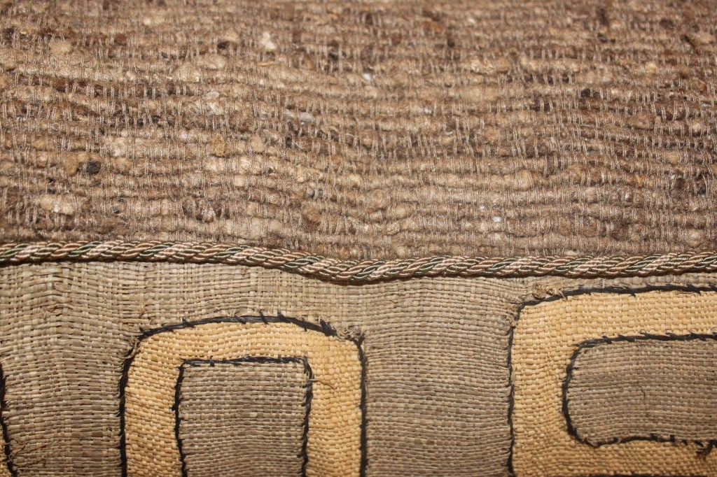 Pair of Vintage African Kuba Cloth pillows 1
