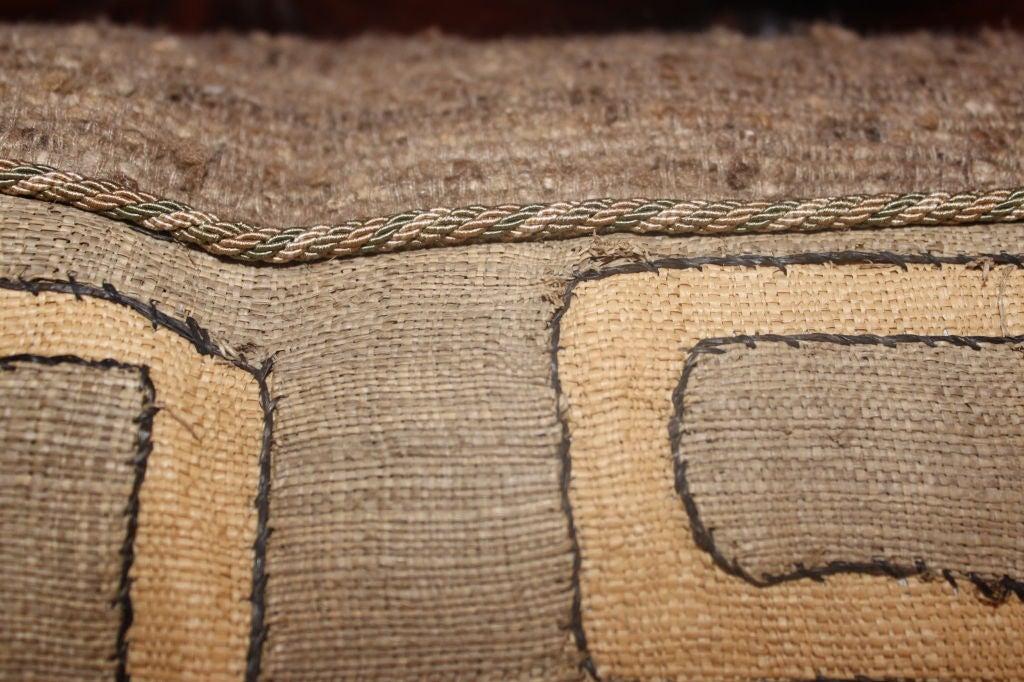 Pair of Vintage African Kuba Cloth pillows 2