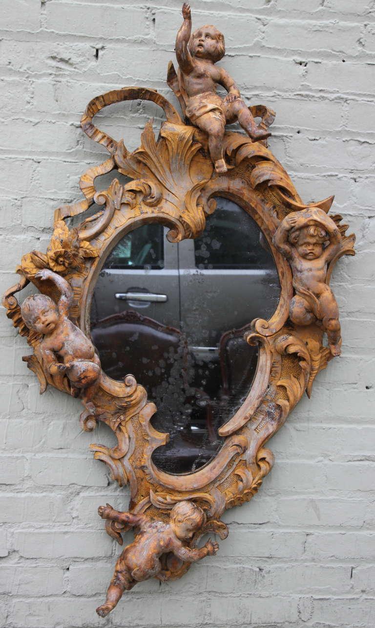 19th C Italian Cherub Mirror At 1stdibs