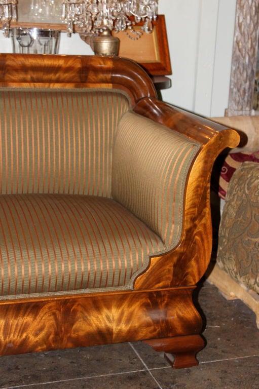 Upholstery 19th C. American Empire Sofa