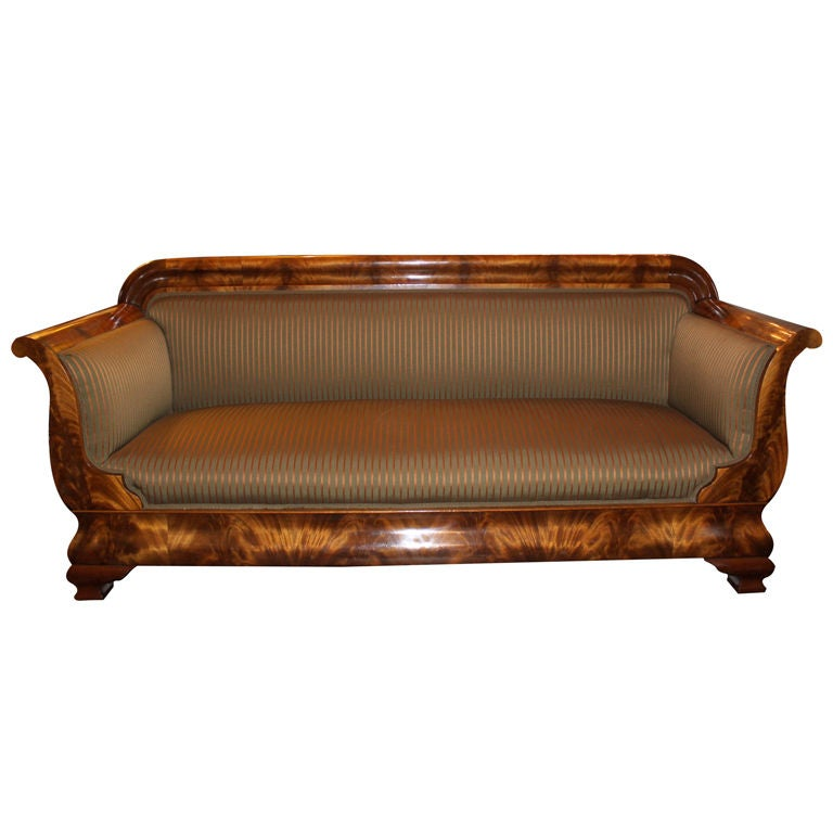 19th C. American Empire Sofa 1