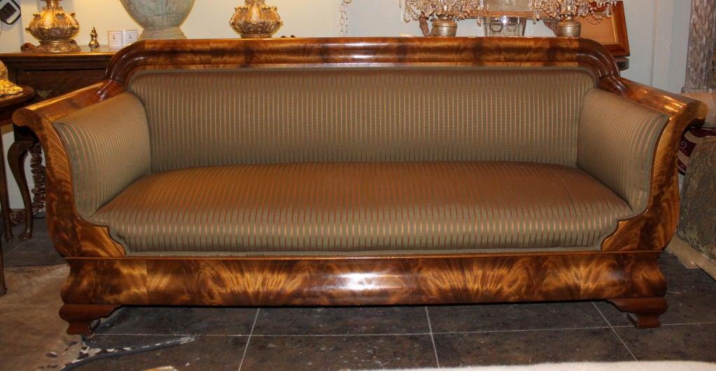 19th C. American Empire Sofa 6
