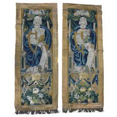 Pair of 17th Century Flemish Tapestry Panels