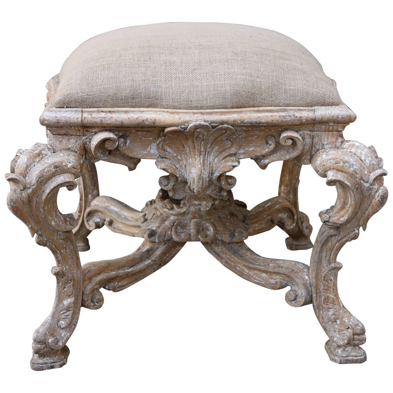 French carved rococo style bench at 1stdibs for French rococo period