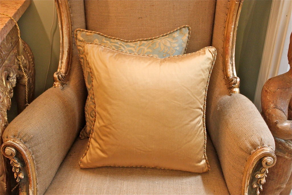 Vintage Authentic Fortuny Pillow with Cording image 3