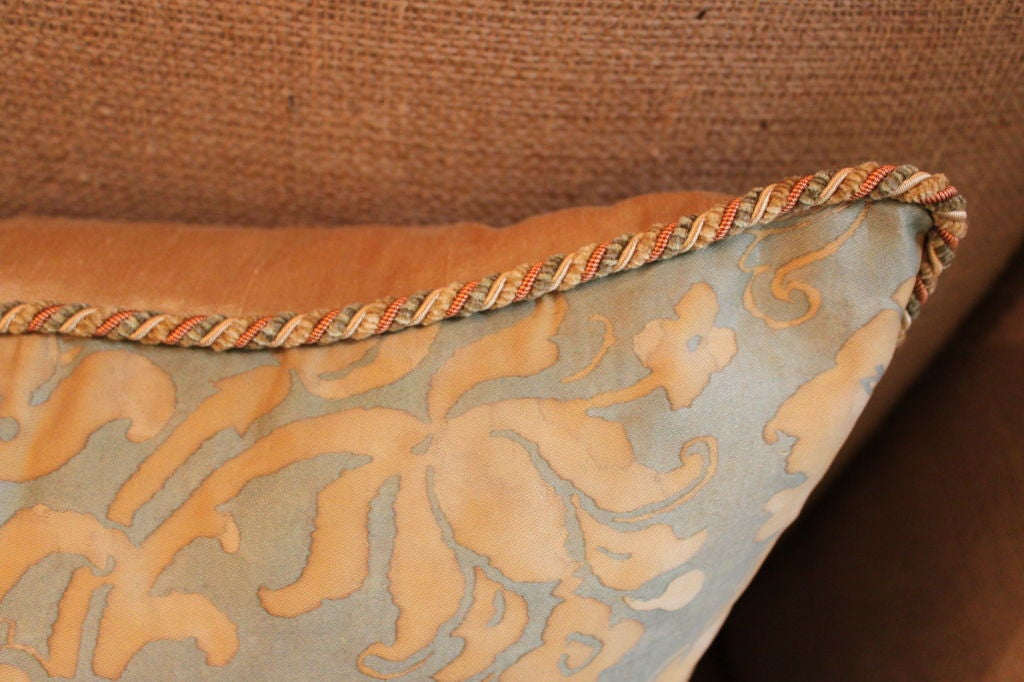 Vintage Authentic Fortuny Pillow with Cording image 6
