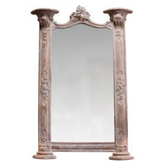 Carved Italian Architectural Mirror, circa 1900s
