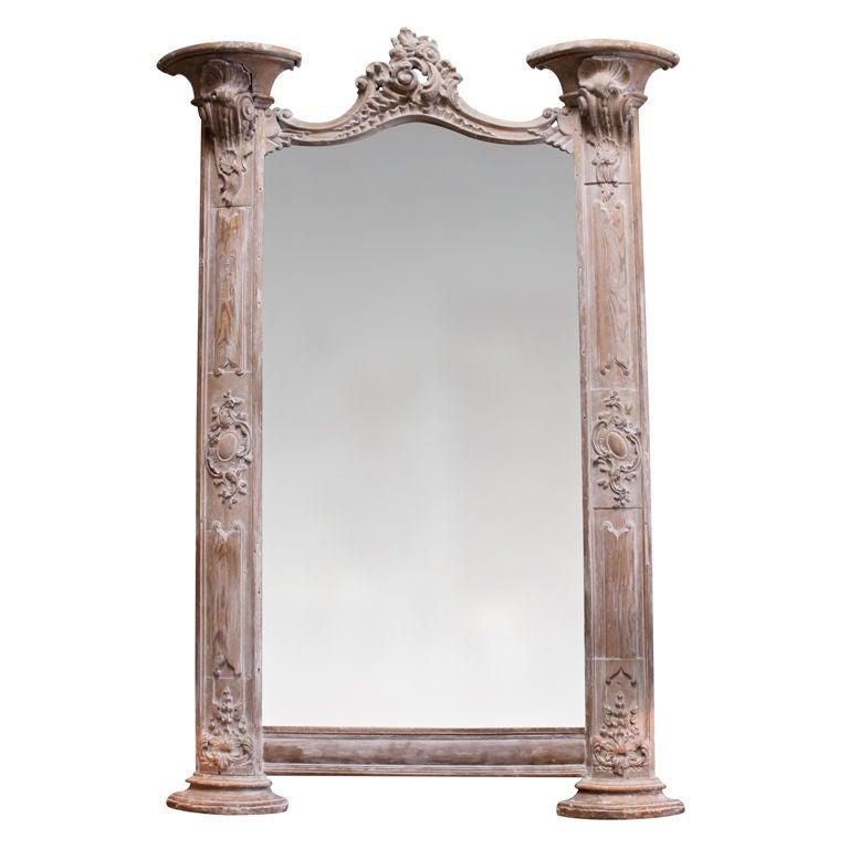 Carved Italian Architectural Mirror, circa 1900s