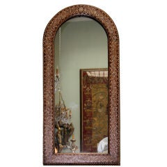 Arched Serian Inlaid Mirror C. 1940's