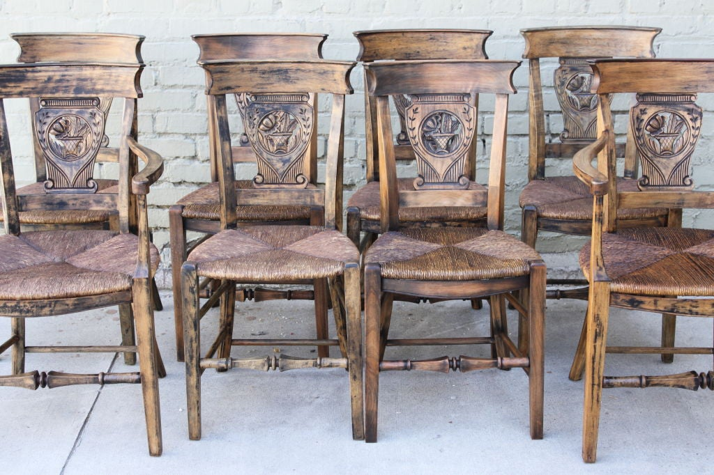 this set of 8 country french dining chairs c 1920 39 s is no longer