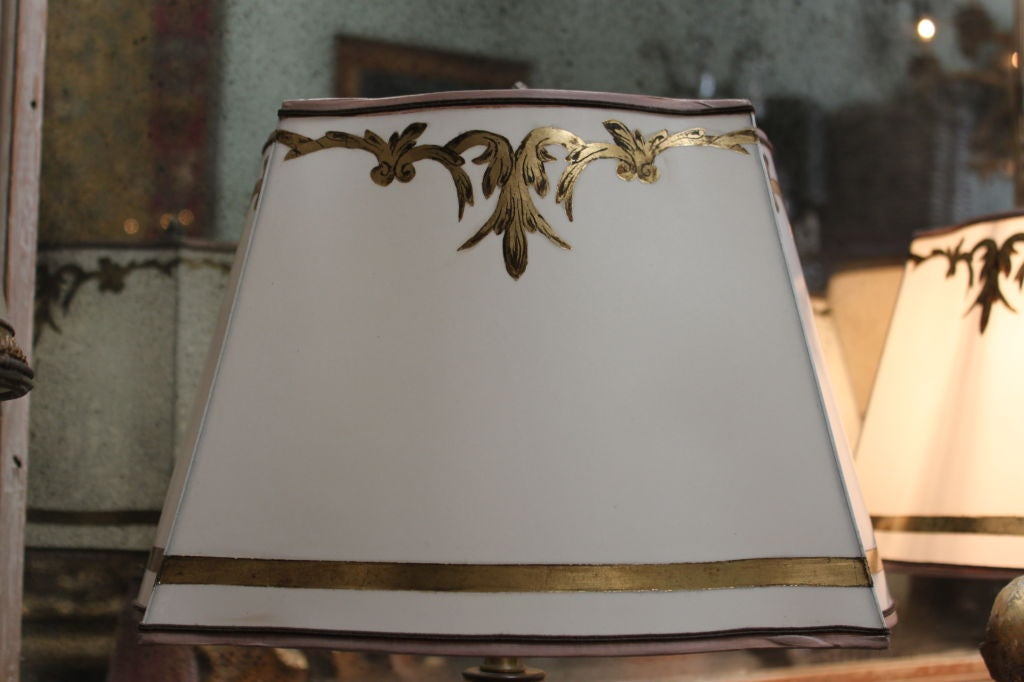 Parchment Wall Lamp Shades : Pair of Vintage Murano Lamps with Painted Parchment Shades at 1stdibs