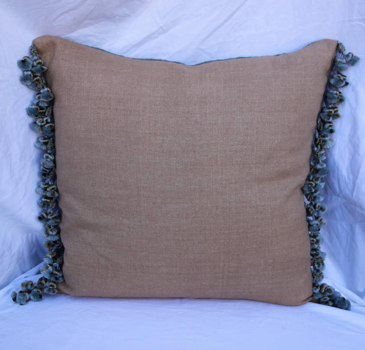 Appliqué 19th Century French Lace Appliqued Pillow For Sale