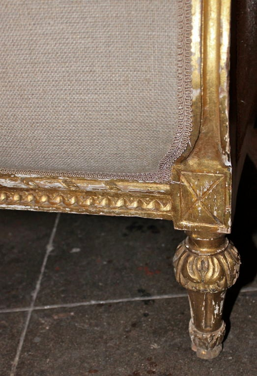 Carved French Gilt Wood Sofa C 1900 39 S At 1stdibs