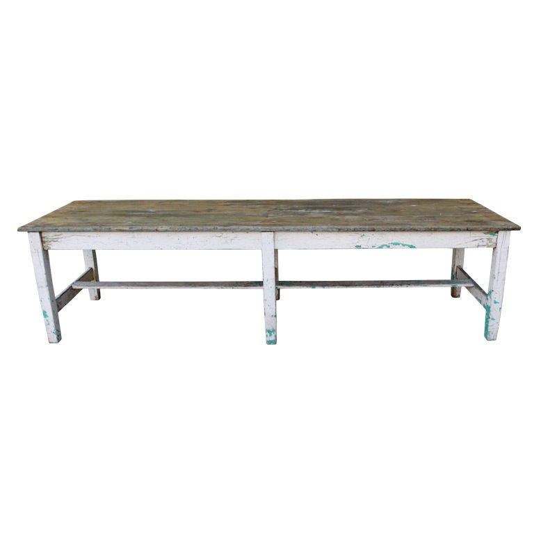 Early 19th C American Painted Farm Table at 1stdibs