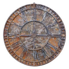Steel and Painted Distressed Clock Face