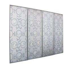 Set of (4) Framed Handpainted Panels C. 1930's