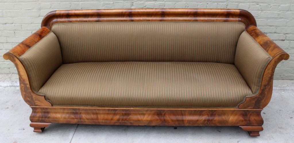 19th C American Empire Sofa At 1stdibs