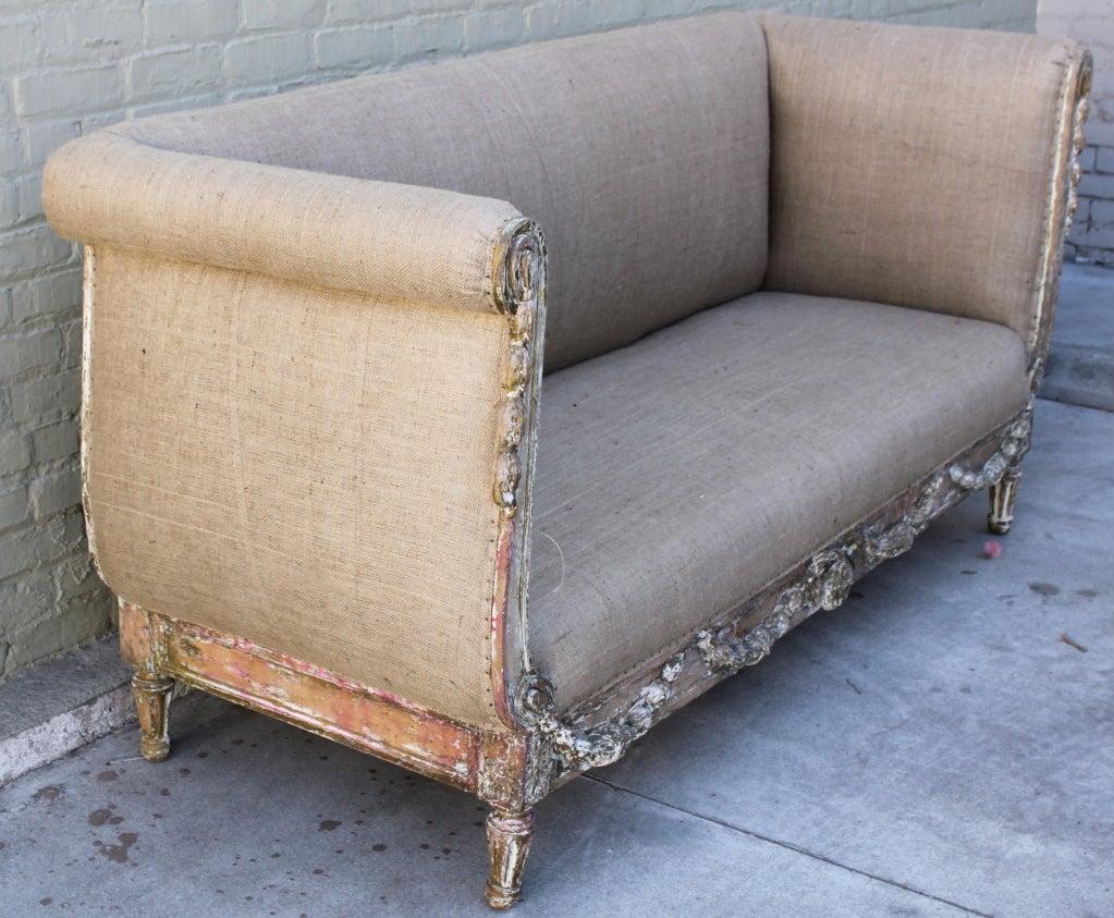 19th C Carved Italian Burlap Upholstered Sofa At 1stdibs. Castle Design. Channel Glass. Carrara Quartz. Silver Headboard. Concrete Rectangular Planter. Jrn Nursery. Permeable Driveway. 40 Inch Vanity