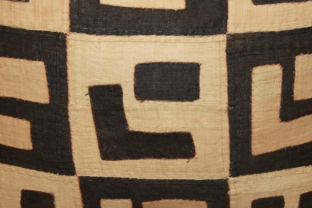 Mid-20th Century Pair of Vintage Kuba Cloth Pillows