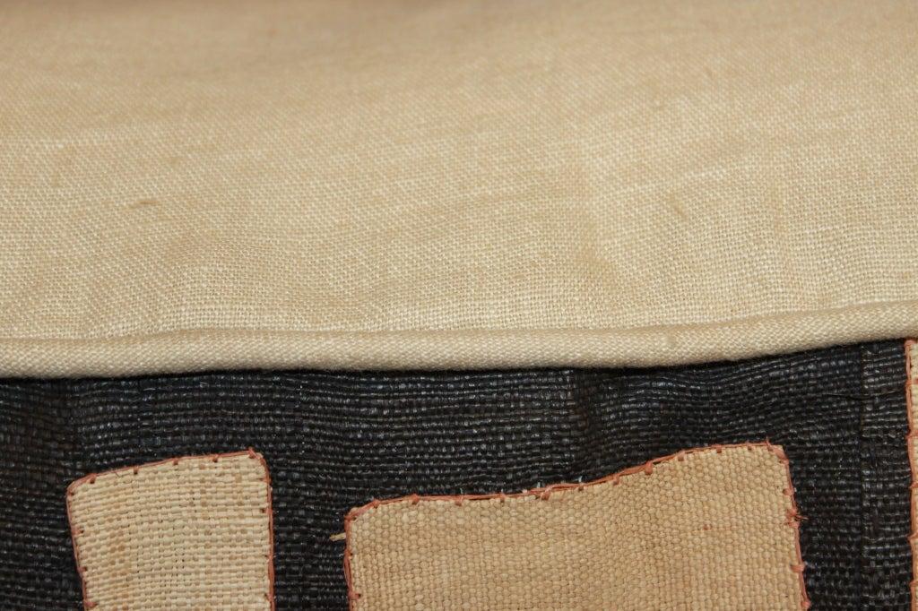 Down Pair of Vintage Kuba Cloth Pillows