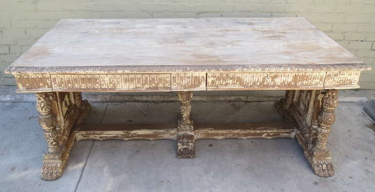 Early 20th c. Italian Carved Desk 2