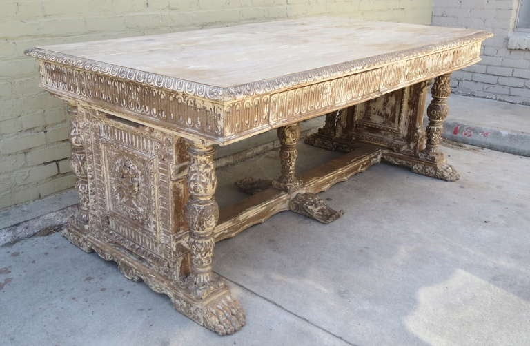 Early 20th c. Italian Carved Desk 3