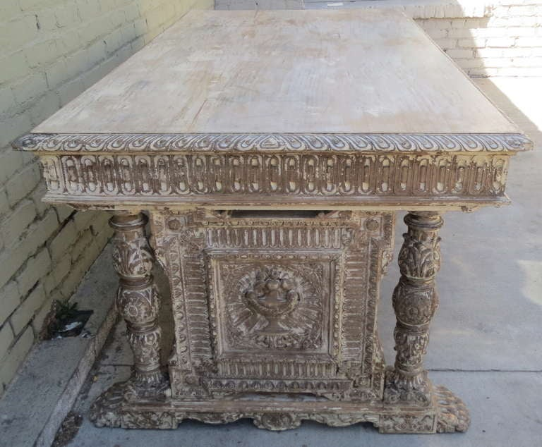 Early 20th c. Italian Carved Desk 4