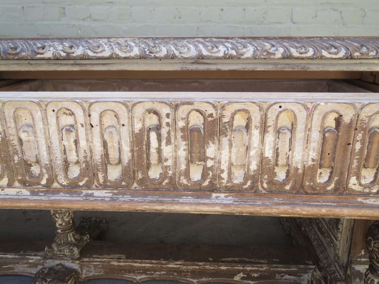 Early 20th c. Italian Carved Desk 8
