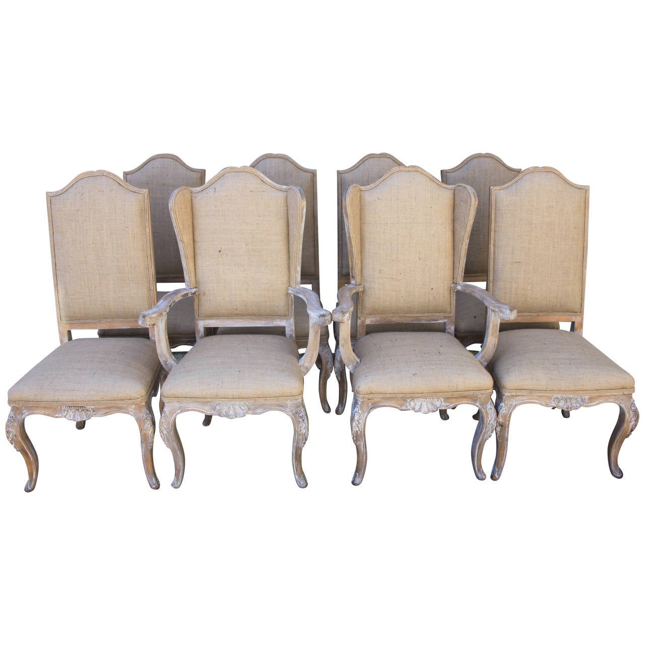 Set of eight french louis xv style dining chairs at 1stdibs for 8 dining room chairs