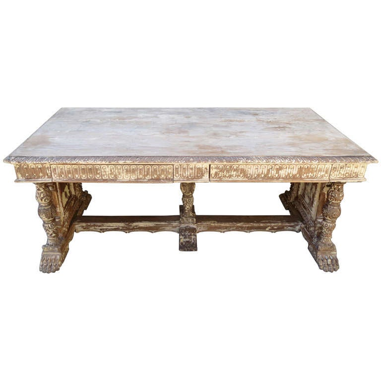 Early 20th c. Italian Carved Desk 1