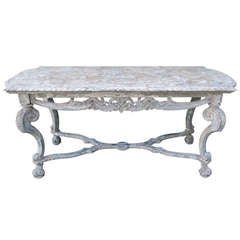 Carved Italian Painted Table C. 1930's