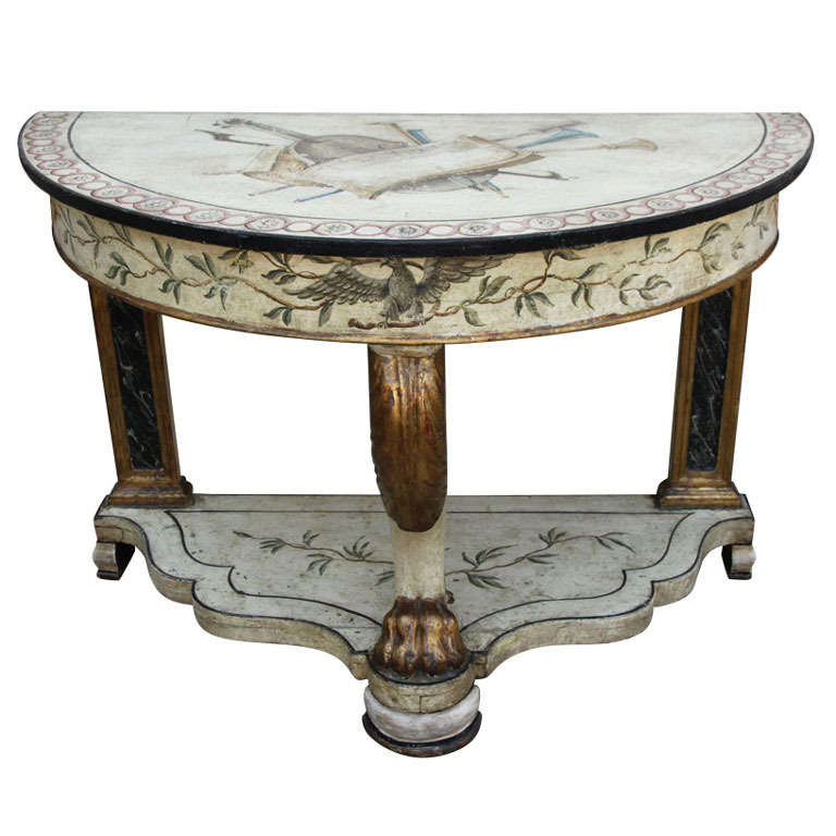 19th century italian painted console for sale at 1stdibs for Italian painted furniture