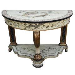 19th Century English Painted & Parcel Gilt Console