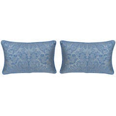 Pair of Blue & Gold Fortuny Pillows