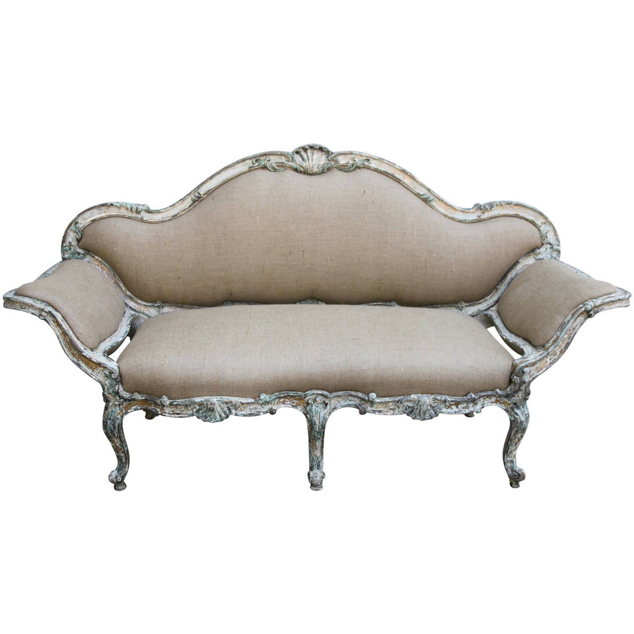 French Regency Style Painted Sofa At 1stdibs