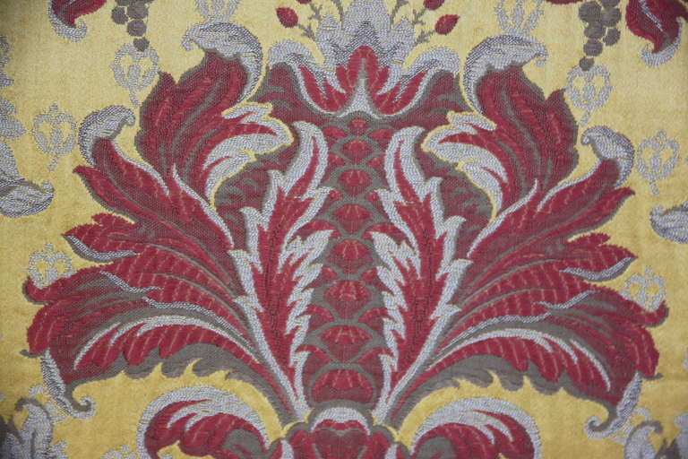 Unknown Pair of Silk Brocade Pillows with Fringe For Sale