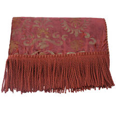 Custom Cognac Colored Stenciled Throw