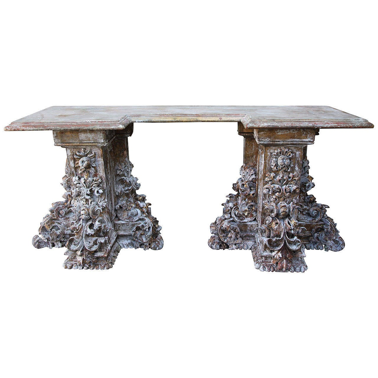 19th century italian baroque style console table at 1stdibs. Black Bedroom Furniture Sets. Home Design Ideas