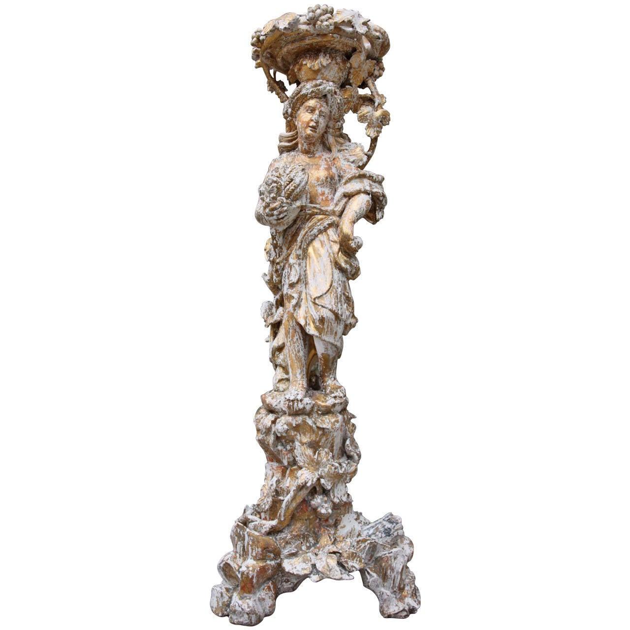 19th Century Italian Carved Planter